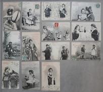 Lot De 13 Cartes De Bergeret. - Cartes Postales