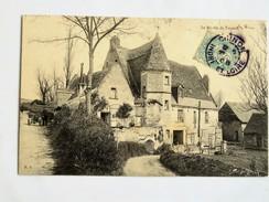 C.P.A. 37 ROCHECORBON : Le Moulin De TOUVOIS, Animé, En 1908 - Rochecorbon