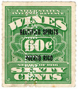 (I.B) Puerto Rico Revenue : Rectified Spirits 60c (Distilling Perfin) - United States
