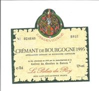 Etiquette De VIN De BOURGOGNE - CREMANT Le Palais Du Roy 1995 - Beaujolais
