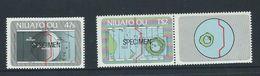 Tonga Niuafo'ou 1984 Date Line Self Adhesive Set Of 2 Specimen Overprints MNH , One With Label - Tonga (1970-...)