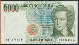°°° ITALIA - 5000 LIRE BELLINI 25/07/2001 SERIE XD SERIE SPECIALE FDS/UNC °°° - [ 2] 1946-… : Républic