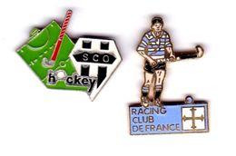 HOCKEY CLUB SCO ANGERS 49 / / RACING CLUB DE FRANCE (LOT DE 2) - Pins