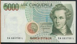 °°° ITALIA - 5000 LIRE BELLINI 31/01/1985 SERIE SA °°° - [ 2] 1946-… : Républic