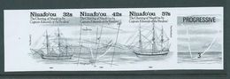 Tonga Niuafo'ou 1991 Bligh & Edwards Charting Bromide Proof Strip Of 3 With Label - Tonga (1970-...)