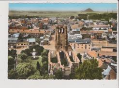 CPSM Grand Format - EN AVION AU DESSUS DE ... COURRIERES - L'Eglise Détruite En 1940 - Sonstige Gemeinden