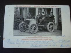 Automobil-fernfahrt BERLIN-AACHEN 1900 : Dürkopp-motorwagen - Goldene Medaille Und Erster Preis - Ansichtskarten