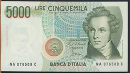 °°° ITALIA - 5000 LIRE BELLINI 31/01/1985 SERIE NA QFDS/aUNC °°° - [ 2] 1946-… : Républic