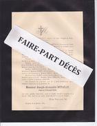Faire-part Décès Joseph Alexandre DUTAILLY, Juge Au Tribunal Civil, Langres, 1889 - Esquela