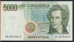 °°° ITALIA - 5000 LIRE BELLINI 31/01/1985 SERIE HA °°° - [ 2] 1946-… : Républic