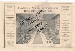 PUB De 1877 Locomobile Machines à Vapeur Constructeur CHAUDRE Fonderie Atelier De Construction à TERGNIER FARGNIERS - Publicités