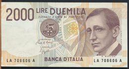°°° ITALIA - 2000 LIRE G. MARCONI 24/10/1990 SERIE LA °°° - [ 2] 1946-… : Républic