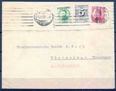 1932 , MADRID - OBERWEIMAR , SOBRE CIRCULADO , ED. 592 , 598 , 656 - 1931-50 Storia Postale