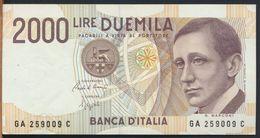 °°° ITALIA - 2000 LIRE G. MARCONI 24/10/1990 SERIE GA °°° - [ 2] 1946-… : Républic