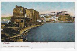 Napoli - Il Forte Ovo E Pizzzofalcone - Undivided Back - Napoli (Naples)