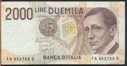 °°° ITALIA - 2000 LIRE G. MARCONI 24/10/1990 SERIE FA °°° - [ 2] 1946-… : Républic