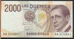 °°° ITALIA - 2000 LIRE G. MARCONI 24/10/1990 SERIE KA °°° - [ 2] 1946-… : Républic