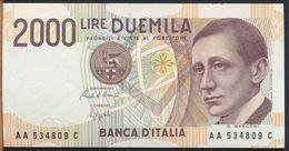 °°° ITALIA - 2000 LIRE G. MARCONI 24/10/1990 SERIE AA FDS/UNC °°° - [ 2] 1946-… : Républic