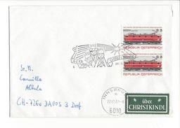 18107 - Cover Christkindl  Innsbruck 28.12.1977 Pour Davos + Vignette - Noël