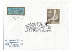 18110 - Cover Christkindl  29.12.1987 Pour Gosau Schweiz + Vignette - Christmas