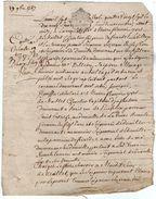 VP11.443 ALENCON - Acte De 1787- Entre Mrs De MAILLET Chevalier Seigneur De FRIARDEL & DOUVILLE Contre Le Comte De PALLU - Seals Of Generality