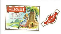 Etiquette De VIN De PAYS De L'AUDE - GERGHI - Rode Wijn