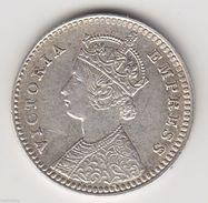 @Y@  India 2 Annas 1897 Silver Coin High Grade ( Item 3056) - Inde