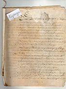VP11.444 - ALENCON - Acte De 1787- Remise De Titre Par Mr De MAILLET Chevalier Seigneur De FRIARDEL & DOUVILLE - Cachets Généralité