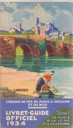 Brochure Dépliant Toerisme Tourisme - Gids Livret Guide Chemins De Fer Paris - Orleans - Midi - 1934 - Folletos Turísticos