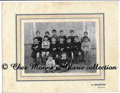 BRIGNAIS - CLASSE DE GARCONS - RHONE ECOLE - PHOTO CDV BOUCHARD 27 X 21 CM - Personnes Anonymes