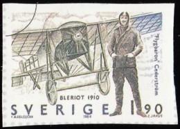 SWEDEN - Scott #1516c Swedish Aviation History / Used Imperf. Stamp - Sweden