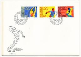 LIECHTENSTEIN - 4 Enveloppes FDC - Jeux Olympiques De Los Angeles - 1984 - Summer 1984: Los Angeles