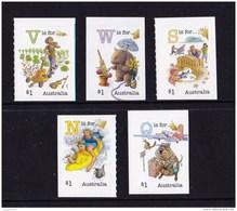 Australia 2016 Fair Dinkum Aussie Alphabet Set Of 5 Self-adhesives MNH - Neufs