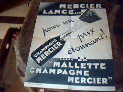 """Publicité  Tract """" La Malette """" Champagne Mercier A Epernay - Pubblicitari"""