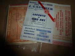 1975 Certificat BANC D'EPREUVE OFFICIEL Des ARMES à FEU Et Des MUNITIONS, EPREUVE Des ARMES FINIES (TARZAN 800) - Documents