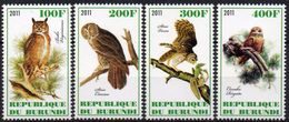 Oiseaux, Hiboux - 4 Timbres Neufs 2011 // Mnh - Hiboux & Chouettes