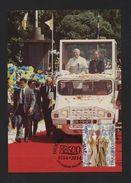 MAXIMUM CARD PORTUGAL MADEIRA DIOCESE FUNCHAL POPE JOAN PAUL II Car Jeep UMM - Postcards