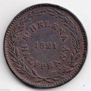 @Y@  ST. HELENA HALF PENNY 1821 (4904) - Santa Helena