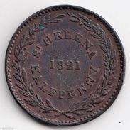 @Y@  ST. HELENA HALF PENNY 1821 (4904) - Saint Helena Island