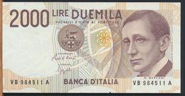 °°° ITALIA - 2000 LIRE G. MARCONI 06/03/1992 SERIE VB °°° - [ 2] 1946-… : Républic
