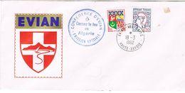 TAMPON CONFERENCE D'EVIAN CESSEZ LE FEU EN ALGERIE EMISSION SPECIALE 18 03 1962 - Marcophilie (Lettres)
