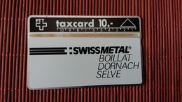 Phonecard Private Zwitzerland Swiss Metal 010 A (Mint,Neuve) Only 700 Made Rare - Svizzera