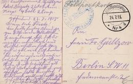 Feldpostkarte Sur CP De Bruxelles - Weltkrieg 1914-18