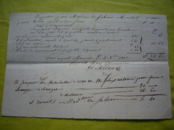 Facture Manuscrite 1817 Marseille Madame De Gabran Monteil - France