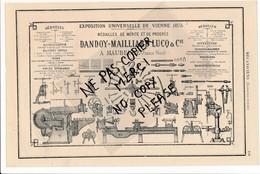 Quincaillerie Outils DANDOY MAILLIARD LUCQ à MAUBEUGE Locomobile Construction De Machines Weyher Richemond PANTIN - Publicités