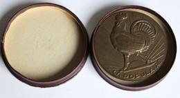 Médaille Bronze Coq La Populaire Compagnie Française Assurance Vie Magdeleine Sallais Employée Delamarre - France