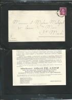 Auray    F. P. Décès De Mme Albert Blarez Née Marguerite Robert De Beauchamp , Le 5/02/1934 - Aw13609 - Esquela