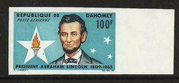 DAHOMEY 1965 ABRAHAM LINCOLN USA PRESIDENT IMPERF SET MNH - Benin - Dahomey (1960-...)