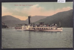 Il Vaporetto Sempione - Saluto Dal Lago Di Lugano - Ca 1906 (15'201) - TI Tessin