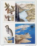 YUGOSLAVIA 1982 Nature Protection  On 2 Maximum Cards.  Michel 1943-44 - Maximum Cards